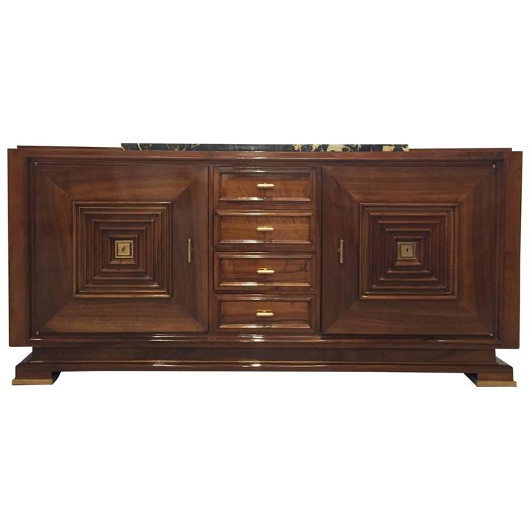 Stunning French Art Deco Buffet with Marble Top