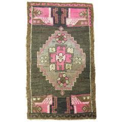 Vintage Yastik Oushak Rug