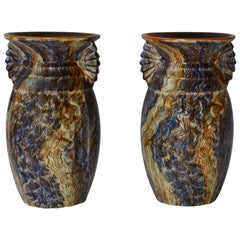 Pair of Belgian Ceramic Vases
