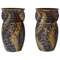Pair of Belgian Ceramic Vases