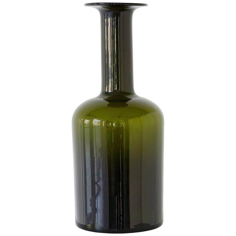 Glass Bottle Vase by Kastrup Holmegaard For Sale