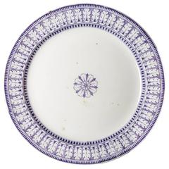 Lg. Acanthe Pattern Blue and White Circular Platter