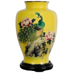Japanese Cloisonné Vase by 'Ando'