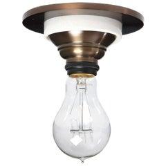 Polished Bronze Flush Mount Lamp by Bryant