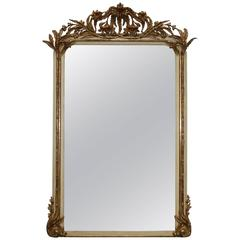 Large 19th Century Extraordinary Rare French Gold Gilded Mirror