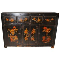 Late 19th Century Antique Chinese Manchurian Cabinet