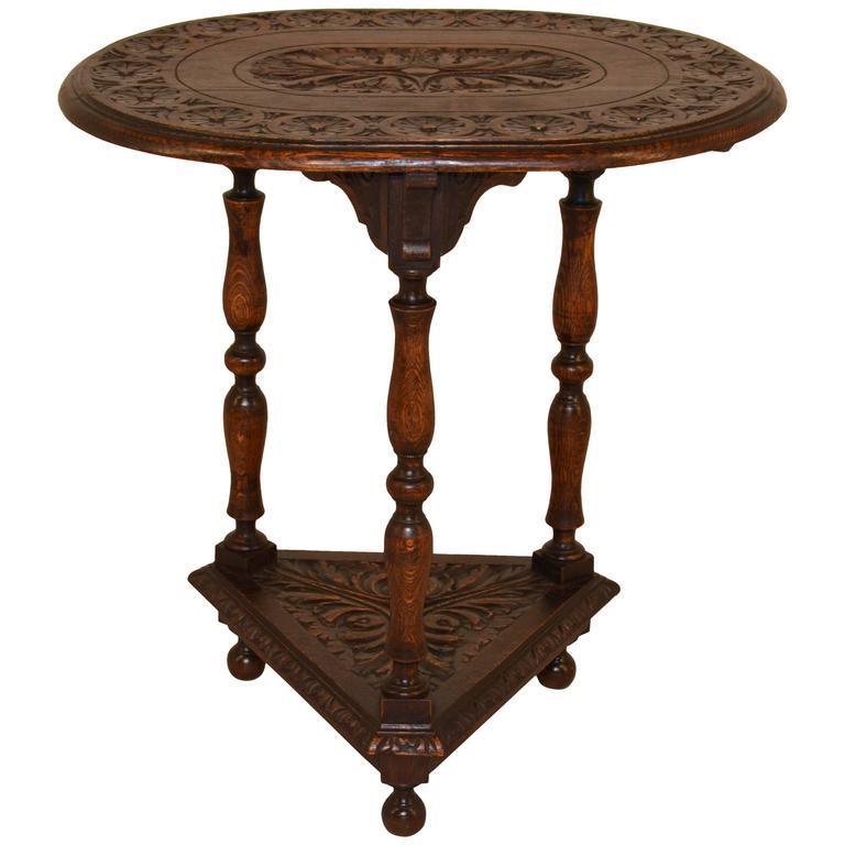 19th century english oak oval side table for sale at 1stdibs for England table