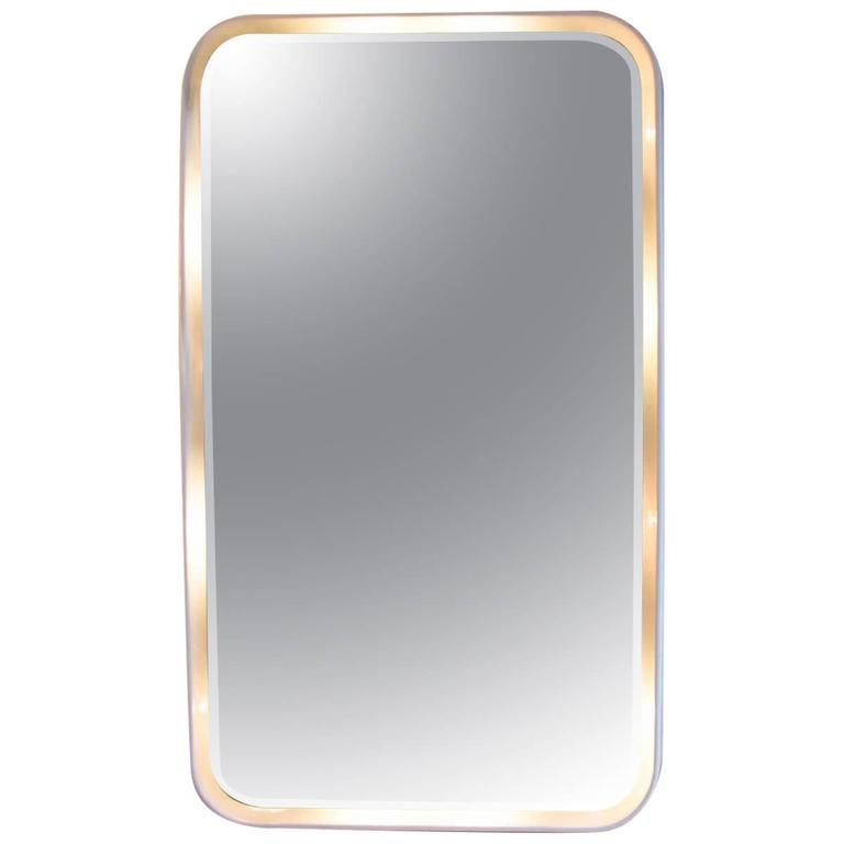 Late 1960s Italian Wall Mirror/Light