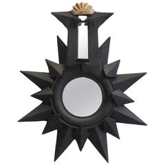Black Star Sunburst Mirror