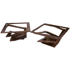 """Pair of """"Brutalist"""" Coffee Tables, France, 1970"""