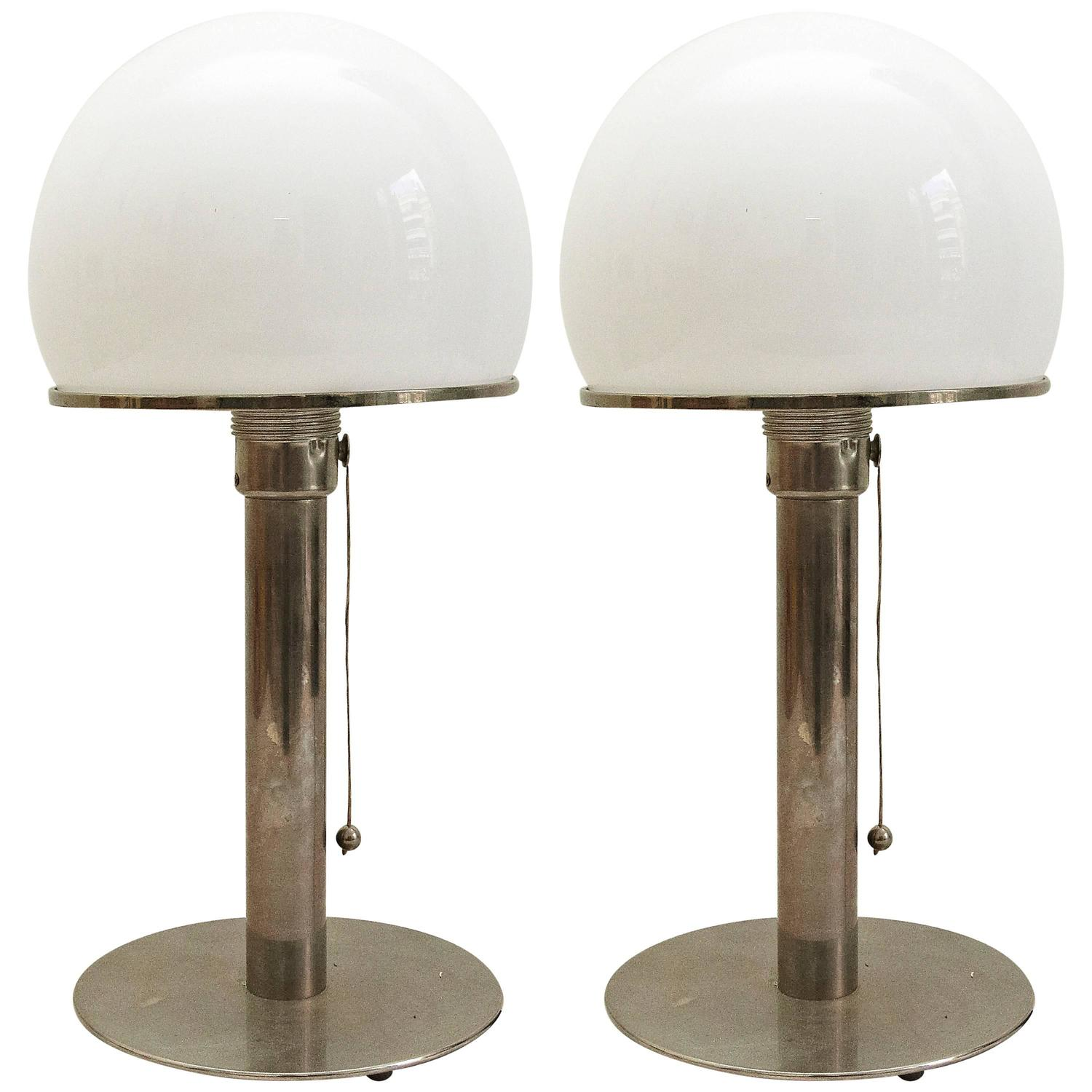 wilhelm wagenfeld pair of bauhaus lamps at 1stdibs. Black Bedroom Furniture Sets. Home Design Ideas