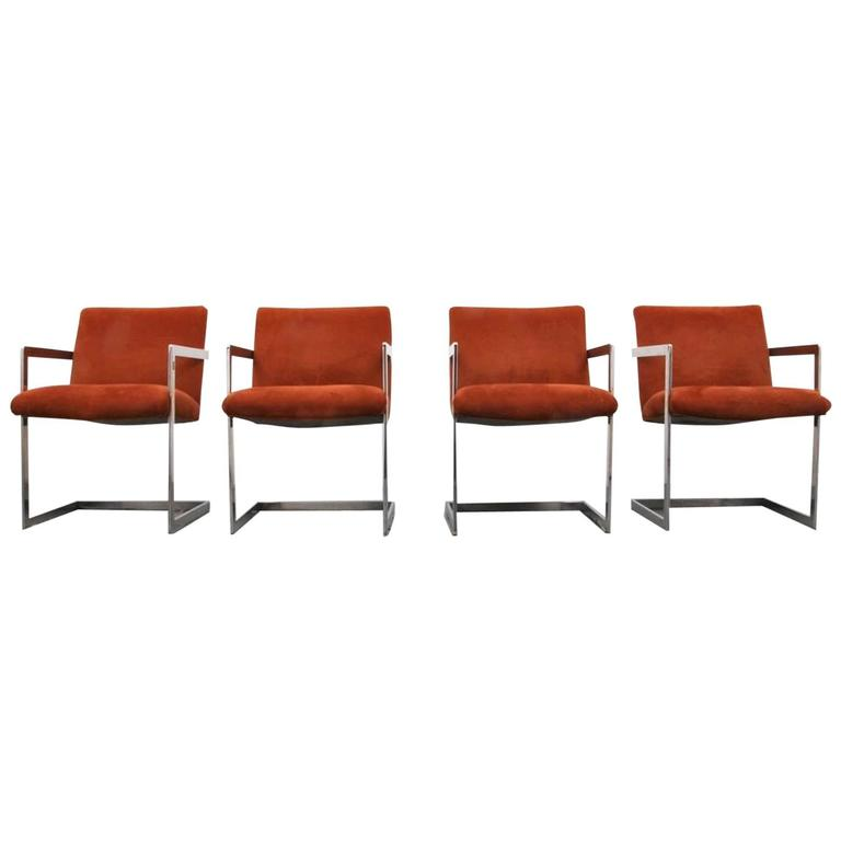 Set of Four Armchairs by Milo Baughman for Thayer Coggin