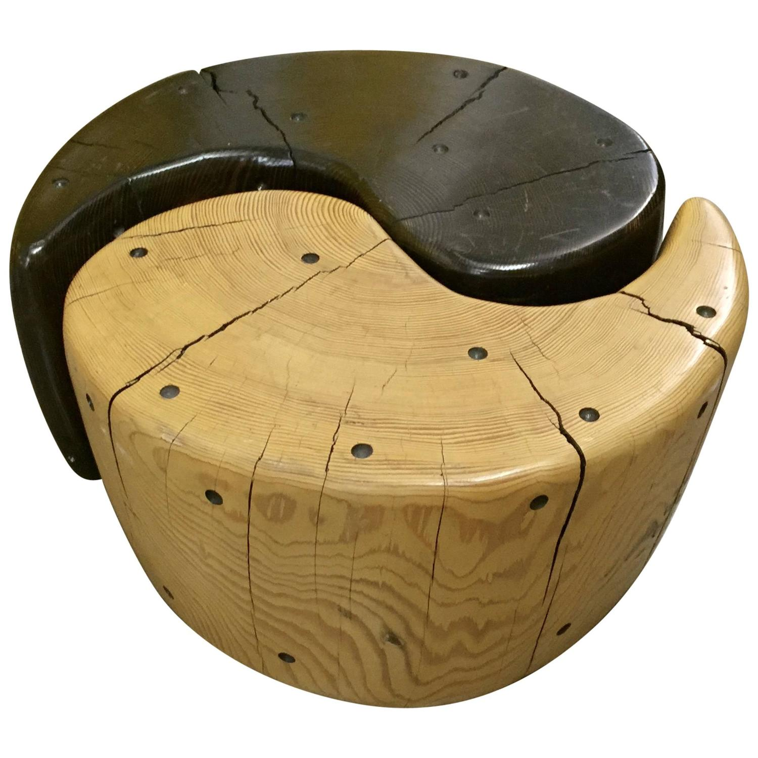 yin yang table by noted california artist daniel pollock for sale at