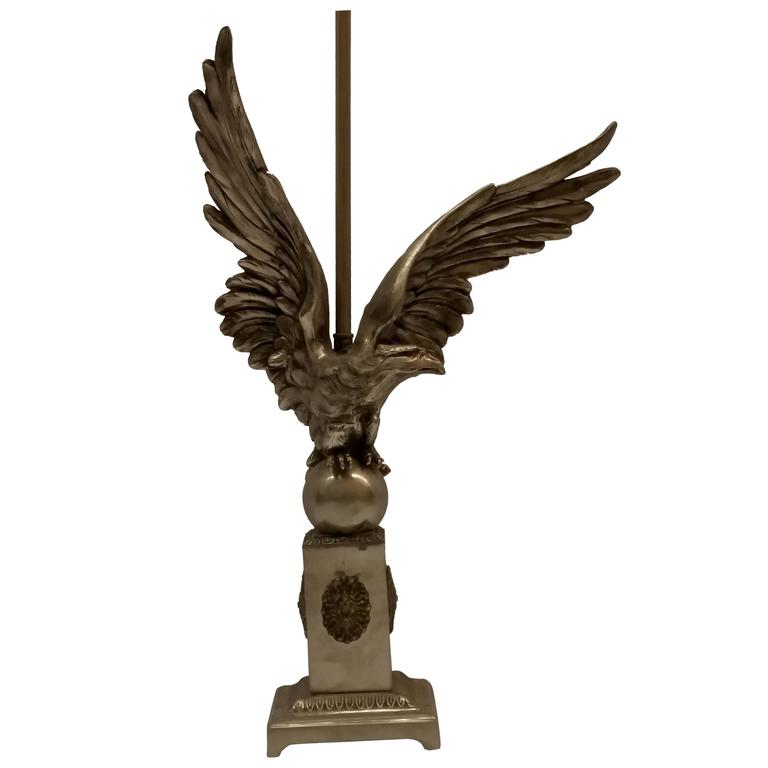 French Art Deco Eagle Table Lamp