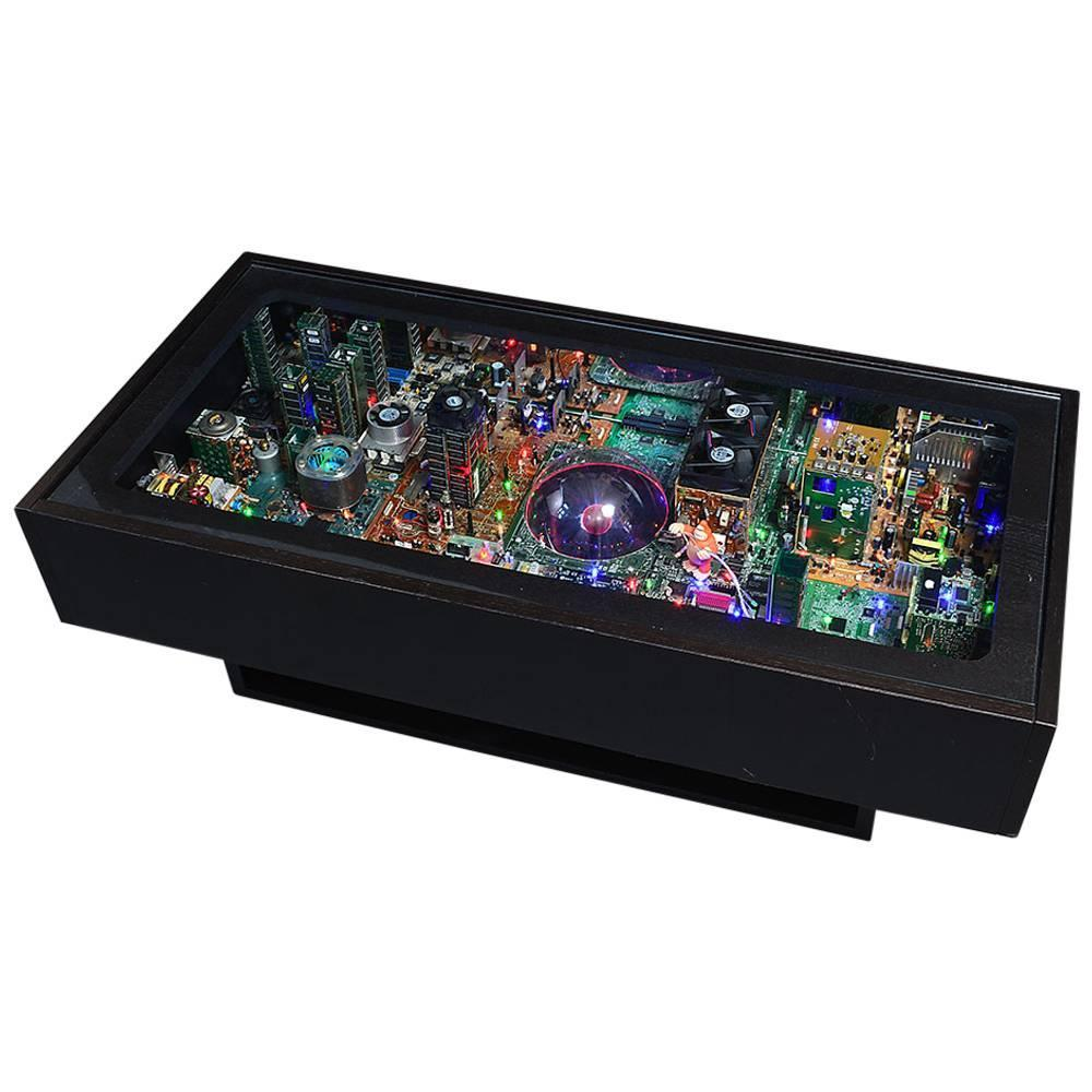 Remarkable Digital Electrified 3d Coffee Table At 1stdibs
