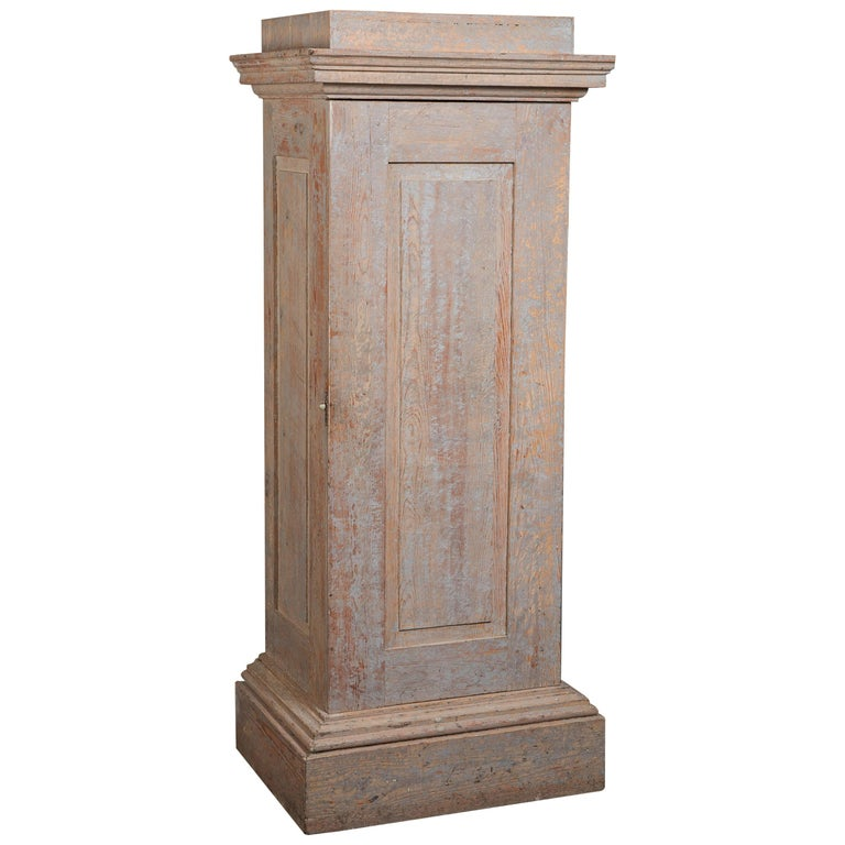 Swedish Late Gustavian Column Cabinet, circa 1800 For Sale