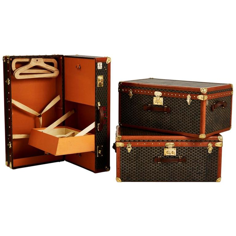 Wonderful Vintage Collection of Goyard Luggage French circa 1920