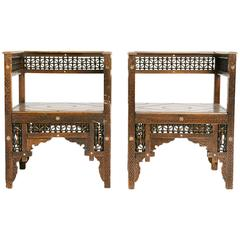 Pair of Carved Moroccan Chairs