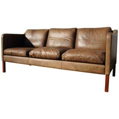 Leather Sofa in the Style of Børge Mogensen