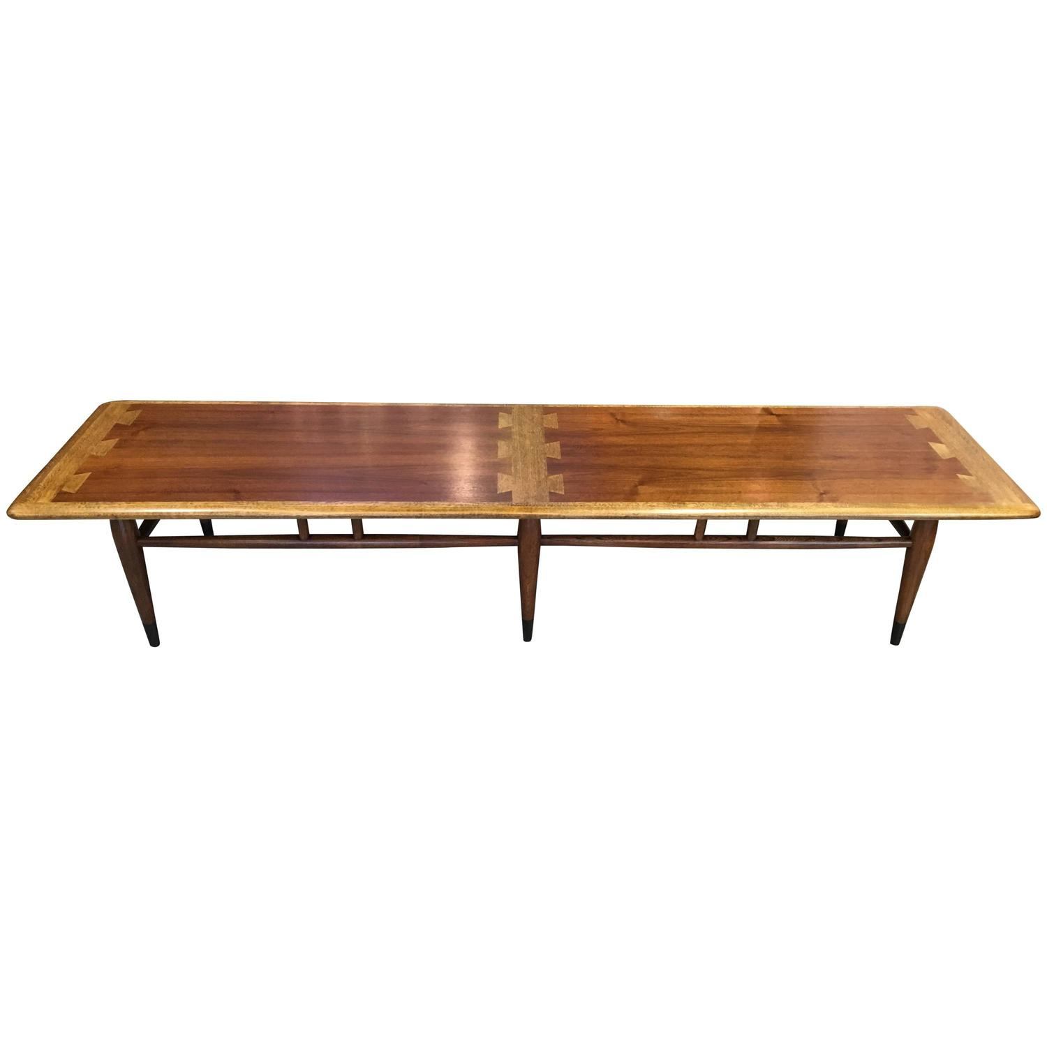 Extra long lane dovetail coffee table for sale at 1stdibs One of a kind coffee tables