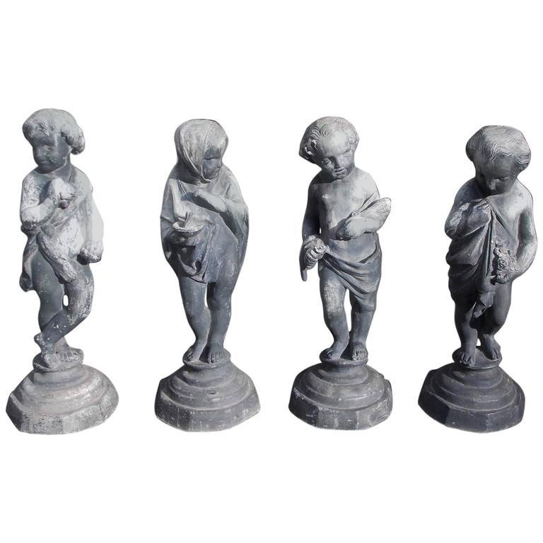 Set of French Lead Figural Four Seasons, Circa 1820