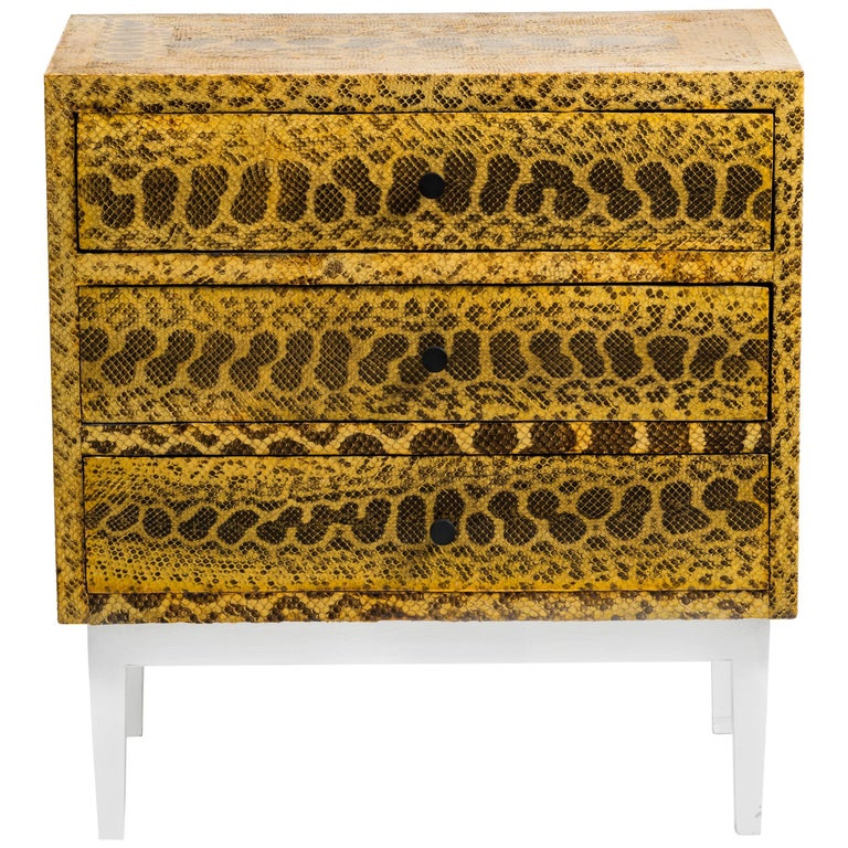 Snakeskin Chest of Drawers For Sale