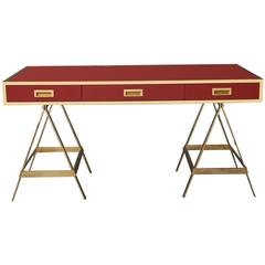 New Albrizzi Trestle Desk in Brass