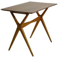 Scissor Leg Side Table, Server Attributed to Renzo Rutili for Johnson Furniture