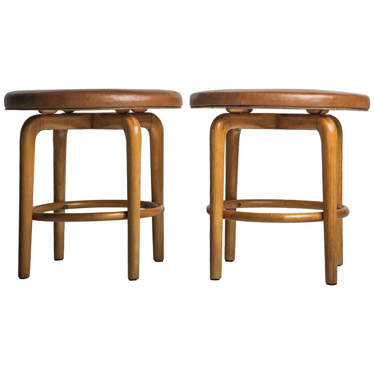 Pair Of Stools By Vilhelm Lauritzen 1940 For Sale At 1stdibs