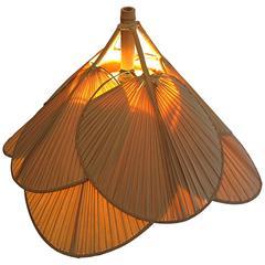 """Ingo Maurer """"Uchiwa"""" Bamboo Pendant Lamp"""