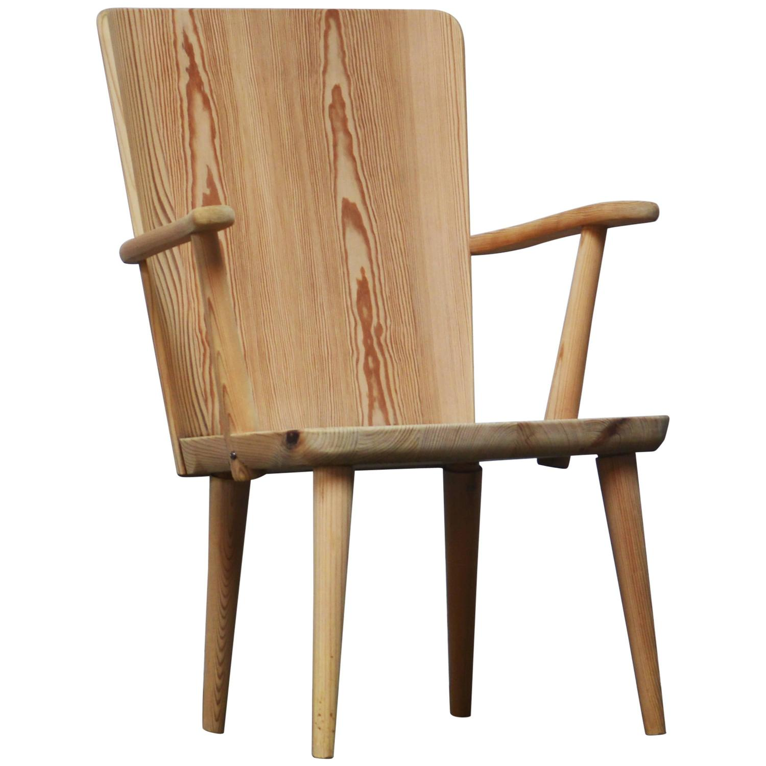 Goran Malmvall Pine Chair Made By Svenskt Fur, Sweden, 1940s At 1stdibs