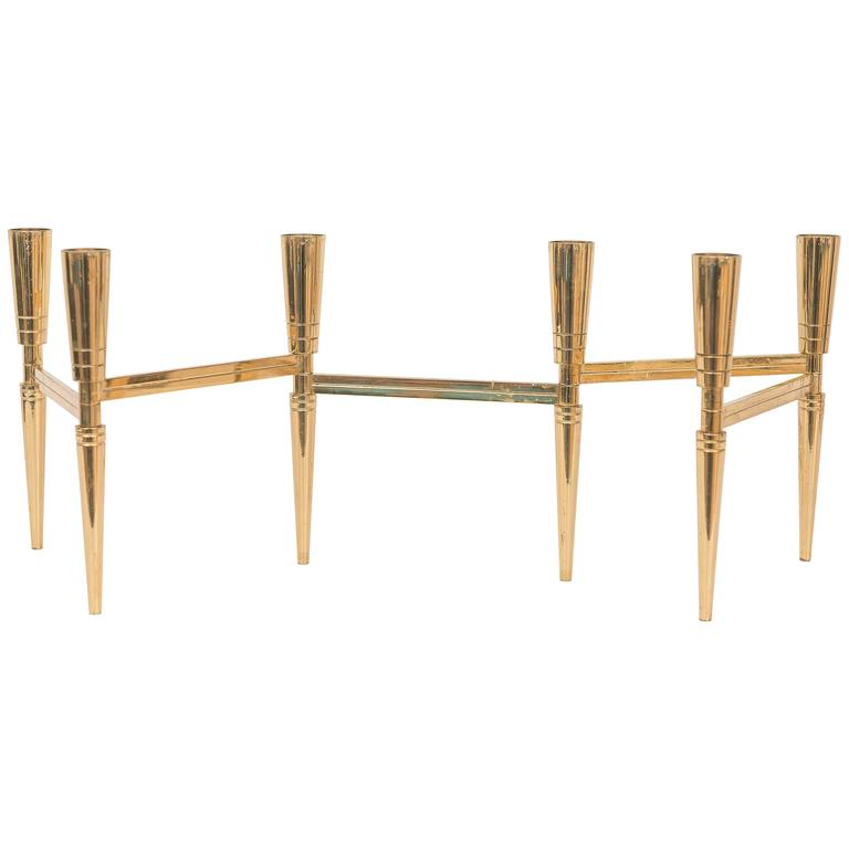Tommi Parzinger Brass Candlestick At 1stdibs