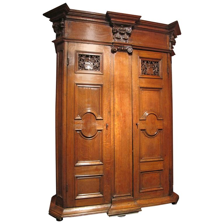 Beautiful Emblazoned Germanic Cabinet