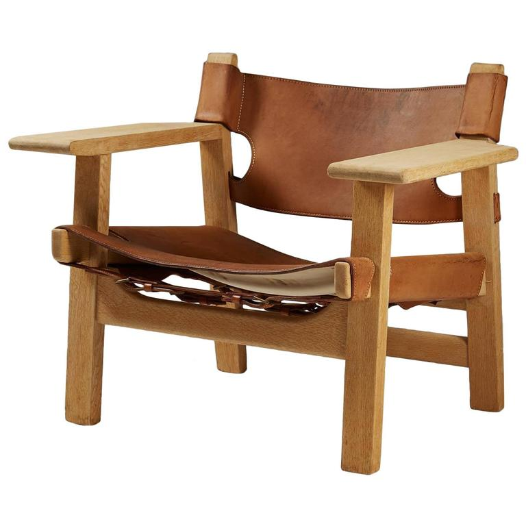 Captivating Armchair U201cSpanish Chairu201d Designed By Börge Mogensen, Denmark, 1950s For Sale