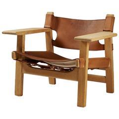 "Armchair ""Spanish Chair"" Designed by Börge Mogensen, Denmark, 1950s"