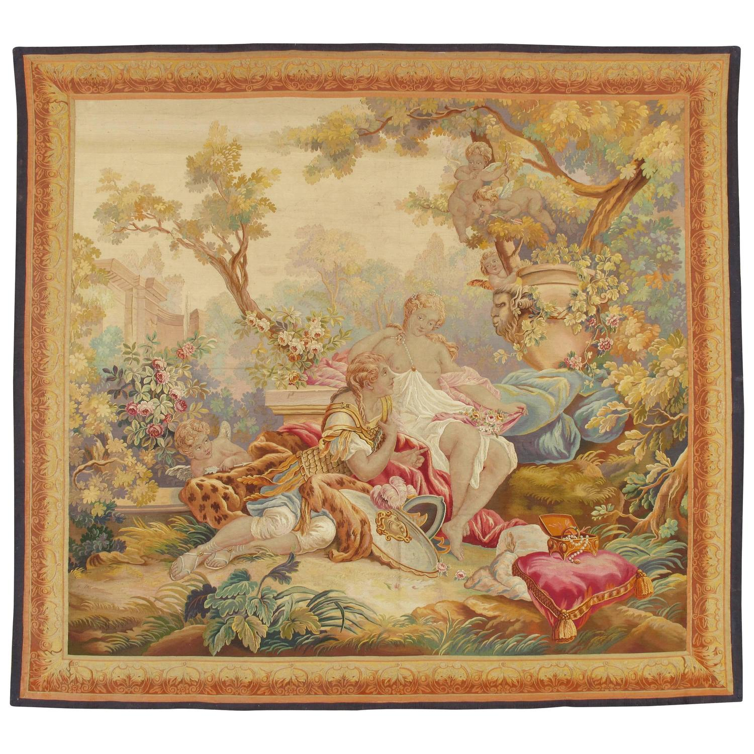 th century and earlier picture frames for at stdibs late 18th century french beauvais tapestry after franccedilois boucher