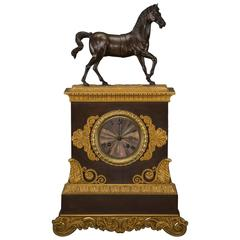 Louis Philippe Bronze Clock, France, circa 1830