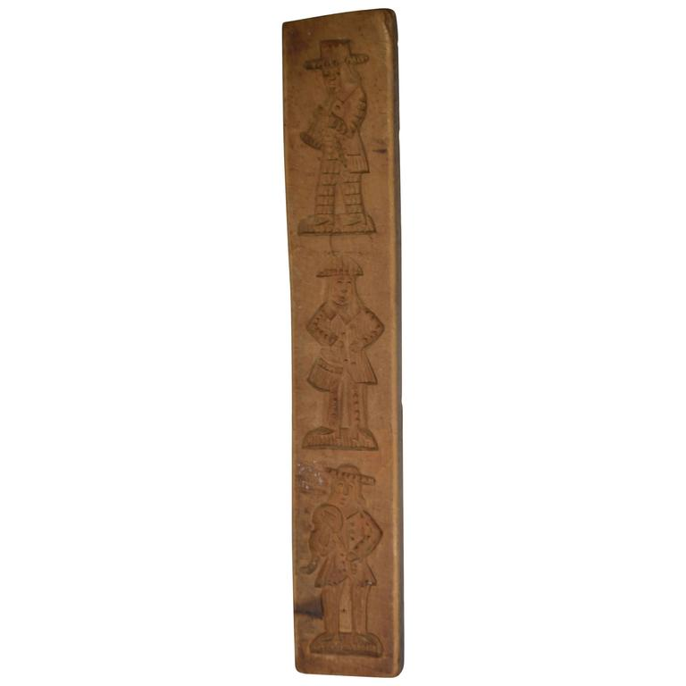 19th Century Wooden Gingerbread Mold