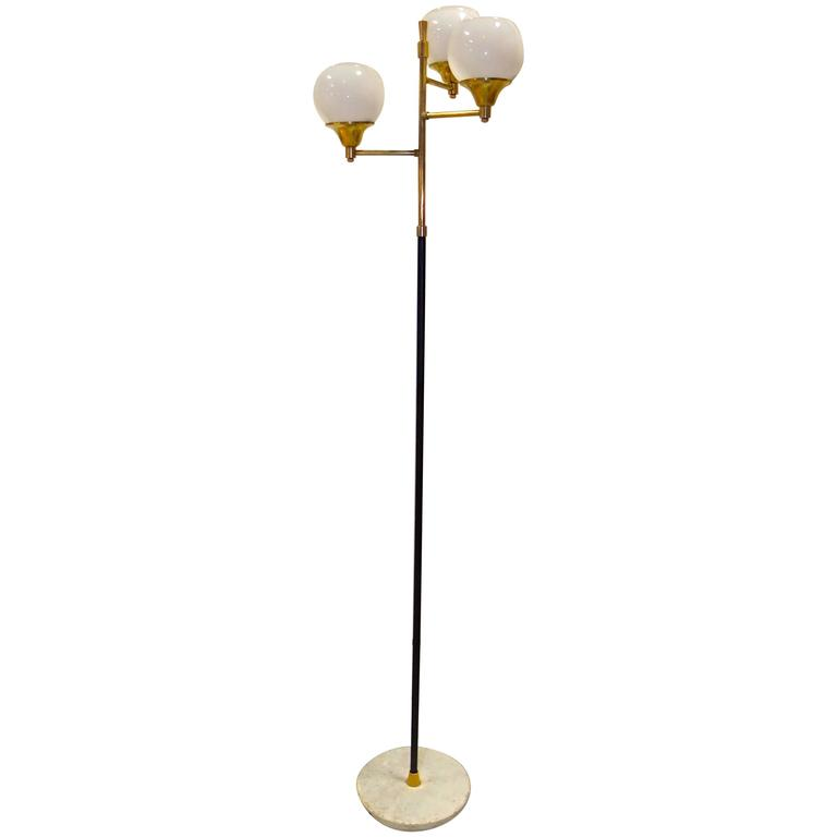 1950s Italian Three Globe Floor Lamp At 1stdibs