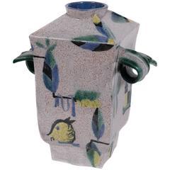 Wiener Werkstatte Earthenware Vase by Hilda Jesser, circa 1921