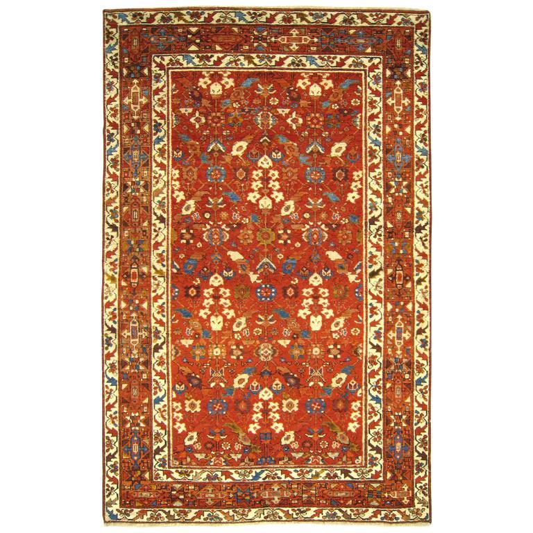 Antique Northwest Persian Oriental Carpet, Small
