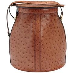 Very Rare Hermes Farming Bag in Ostrich Leather, Dated 1989