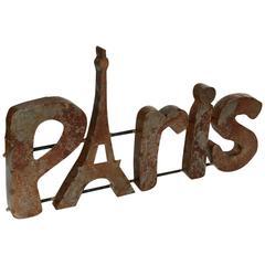 """""""Paris"""" Sign"""