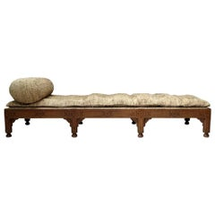 Oriental Style Oak Daybed, France, circa 1910s