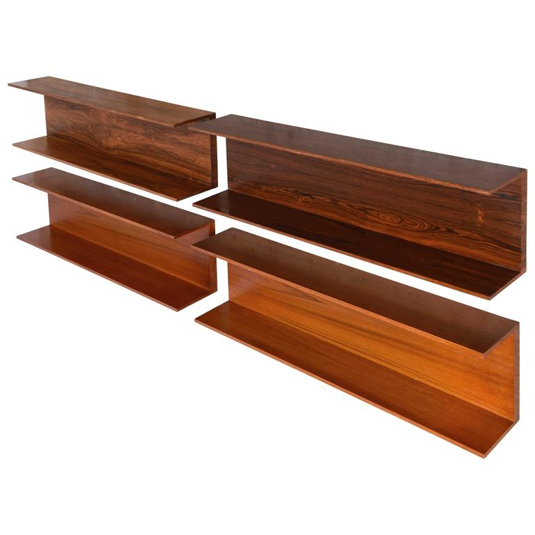 Set of Four Wall-Shelves by Walter Wirtz for Renz