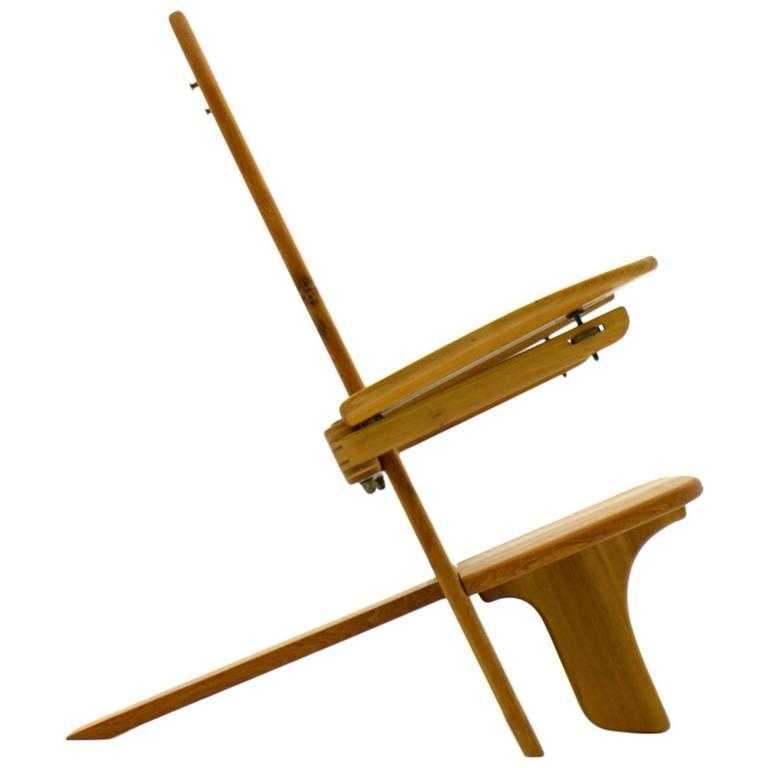 Sculptural Wood Chair, Side Chair, Finland, 1970s