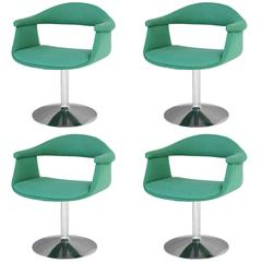 Six 'Captain's' Swivel Chairs by Eero Aarnio for Asko
