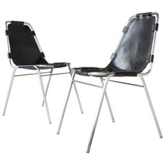 Pair of Vintage Charlotte Perriand Les Arcs Chairs