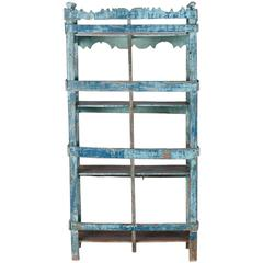 Blue Green Painted Chinese Étagère