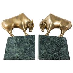 Pair of Vintage Bull Bookends